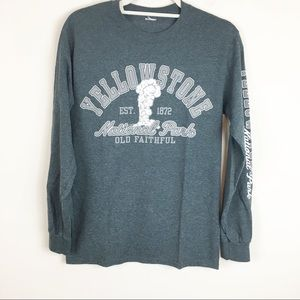 Yellowstone Park Spell Out Old Faithful Gray Top
